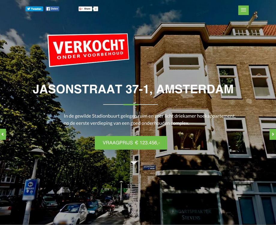 House for Sale: Jasonstraat 37-1 at Amsterdam